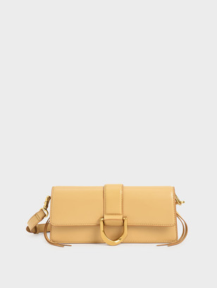 Charles & Keith Metallic Buckle Shoulder Bag