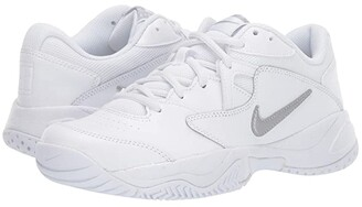 Nike Court Lite 2 (White/Metallic Silver/White) Women's Tennis Shoes