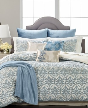 Martha Stewart Collection Pucker Damask 14-Pc. Queen Comforter Set, Created for Macys Bedding