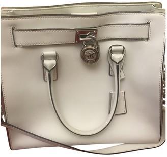 Michael Kors Hamilton White Patent leather Handbags