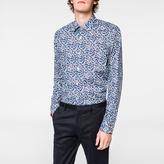 Paul Smith Men's Tailored-Fit Blue 'Floral' Print Shirt