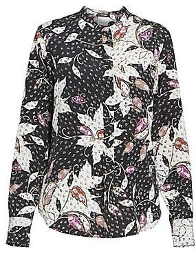 Isabel Marant Women's Rusak Stretch Silk Floral Shirt