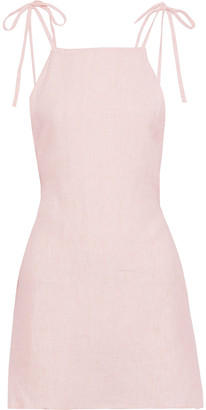 Onia Daphne Open-back Linen Mini Dress
