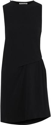 Acne Studios Caprice Asymmetric Cutout Gathered Crepe Mini Dress