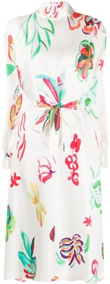 Soulland Blanche floral print belted dress