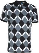 J. Lindeberg KALLE SUBLIME Polo shirt black diamond
