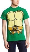 Nickelodeon Men's Ninja Turtles Shell Front Back Tee