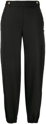 Neil Barrett embossed button trousers