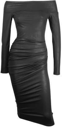 Me&Thee C'est La Vie Black Off Shoulder Bodycon Dress