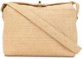 Chanel Pre Owned 1992s straw twist-lock shoulder bag