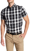 Ben Sherman Mixed Plaid Short Sleeve Regular Fit Shirt