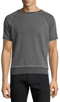 John Varvatos Burnout French Terry Raglan T-Shirt, Gray
