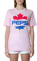 DSQUARED2 Pink Cotton T-shirt With Pepsi Print