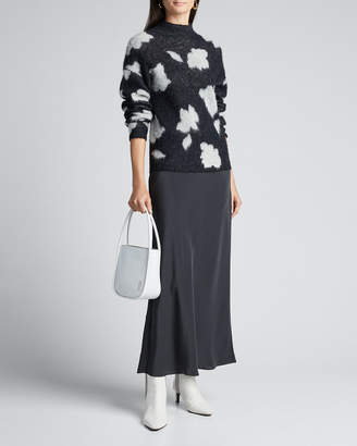 Theory Mock-Neck Floral Pullover