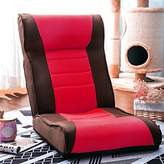 Harper&Bright designs Adjustable Fabric Floor Sofa Kids Chair Folding Gaming Chair (Brown/Red)