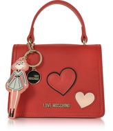 Love Moschino Girls & Hearts Red Mini Satchel Bag