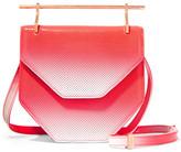 M2Malletier Amor Fati Dégradé Perforated Patent-leather Shoulder Bag - Crimson