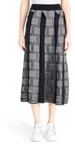 Kenzo Women's 'Ny Stripes' Silk & Cotton Jacquard Knit Skirt