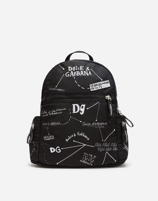 Dolce & Gabbana Nylon Backpack With Logo Print