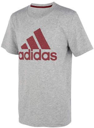 adidas Boys' Tee Shirts GRY - Heather Gray 'Adidas Texture Bos Short-Sleeve Tee - Boys