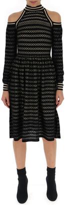 Fendi Shoulder Cut-Out Knit Dress