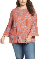 Plus Size Women's Caslon Peasant Blouse