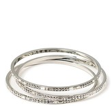 LUX Silvertone and Crystal Bangles, Set of 3