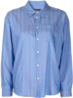A.P.C. Stripe Button-Down Shirt