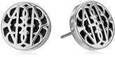 Vera Bradley Signature Icon Silver Tone Stud Earrings