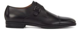 HUGO BOSS - Cap Toe Monk Shoes In Vegetable Tanned Leather - Grey