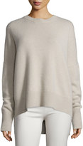 Theory Karenia Ribbed Cashmere Sweater, Natural Linen