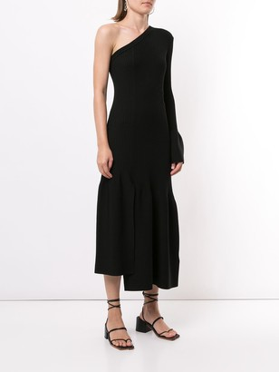 3.1 Phillip Lim One-Sleeve Ribbed Cutout Dress