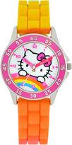 Hello Kitty Girls Orange Strap Watch-Hk9000jc