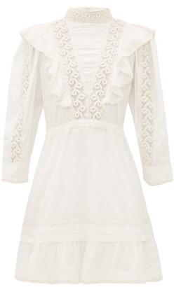 Sea Victoria Ruffled Cotton Mini Dress - White