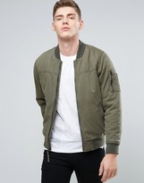 Hollister Twill Bomber In Olive