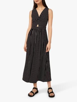 Warehouse Stripe Maxi Dress, Black