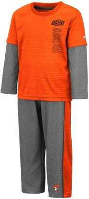 Colosseum Toddler Orange/Heathered Gray Oklahoma State Cowboys Bayharts Long Sleeve T-Shirt and Pants Set