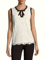 Karl Lagerfeld Sleeveless Lace Top