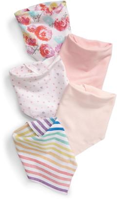 Honest Baby 5-Pack Organic Cotton Reversible Bandana Bibs