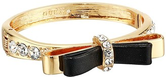 GUESS Hinge Cuff Bracelet with Bow (Gold/Crystal) Bracelet