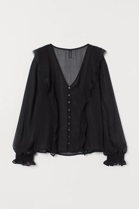H&M V-neck chiffon blouse