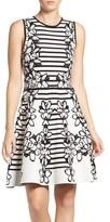 Eliza J Women's Sweater Fit & Flare Dress