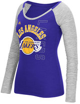adidas Women's Los Angeles Lakers Liquid Dots T-Shirt