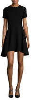 Christian Dior Wool Asymmetrical Flared Dress