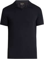 Giorgio Armani Short-sleeved jersey polo shirt