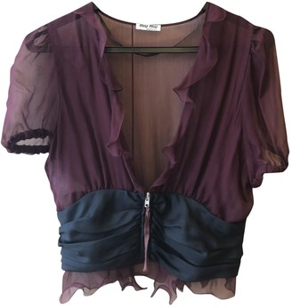 Miu Miu Purple Silk Top for Women Vintage
