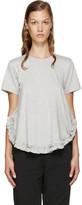 Comme des Garcons Grey Ruffled T-Shirt