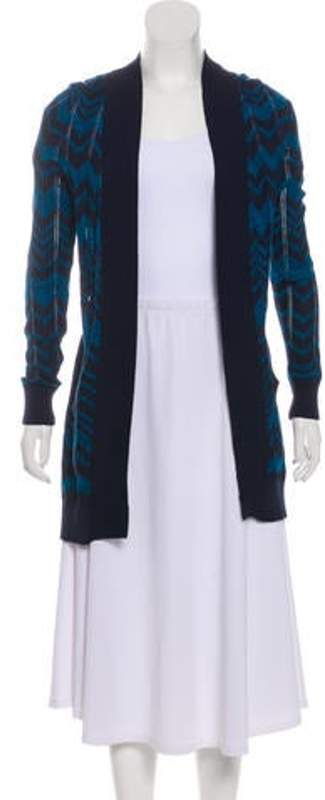 Missoni Lightweight Open Front Cardigan Blue Lightweight Open Front Cardigan