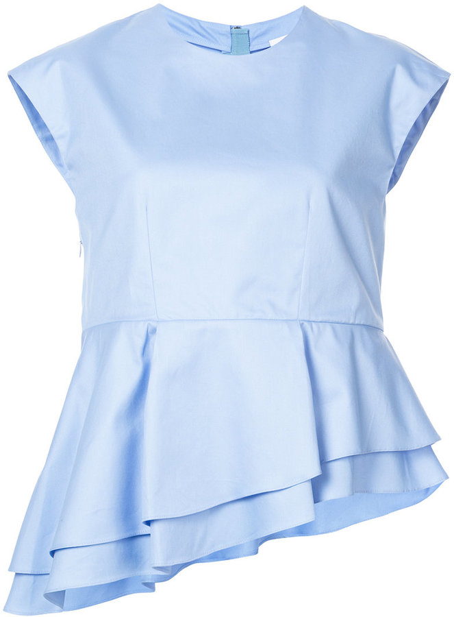 Carven layered asymmetric blouse