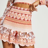 Thumbnail for your product : River Island Womens Orange Shirred Mini Beach Skirt